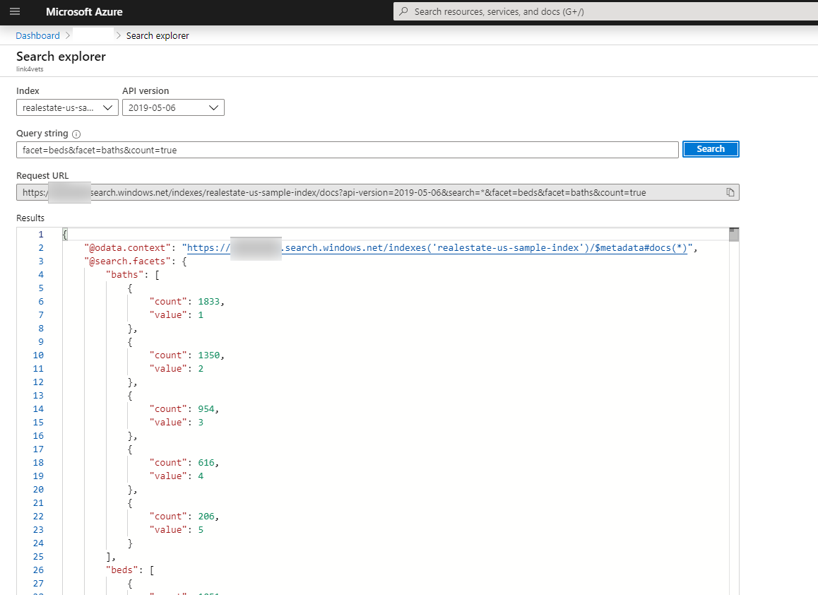 azure search explorer