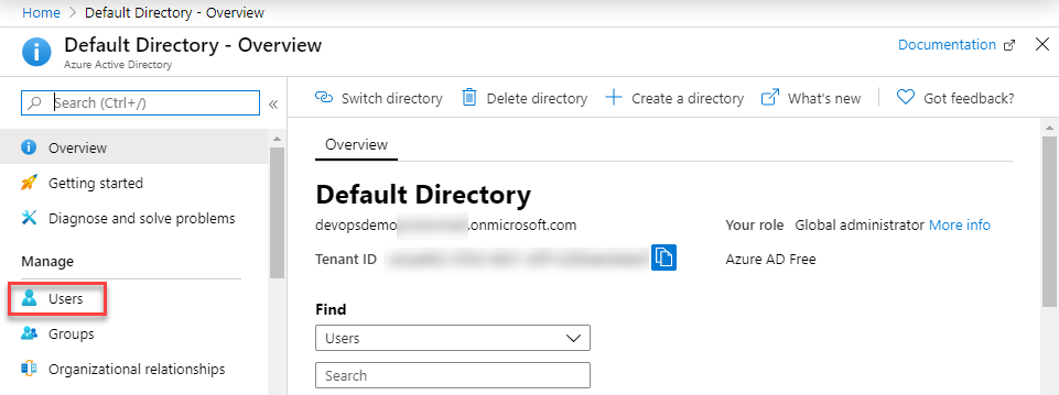 Search for Azure Ad