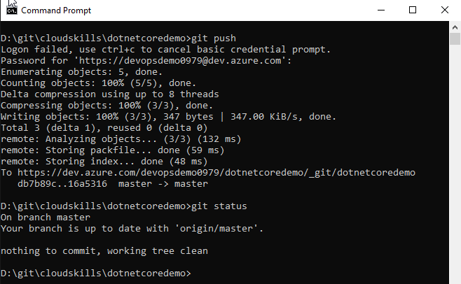 Getting started with git and azure devops