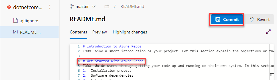 Azure DevOps Repos File Preview Edit