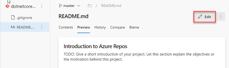 Azure DevOps Repos File Preview